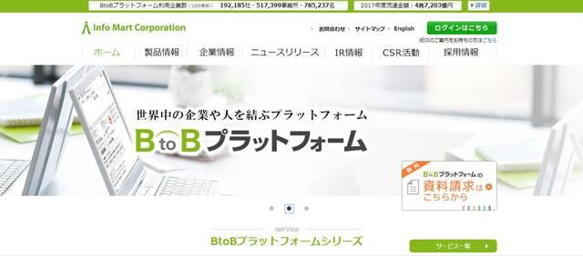 BtoBプラットフォームのサイトキャプチャ