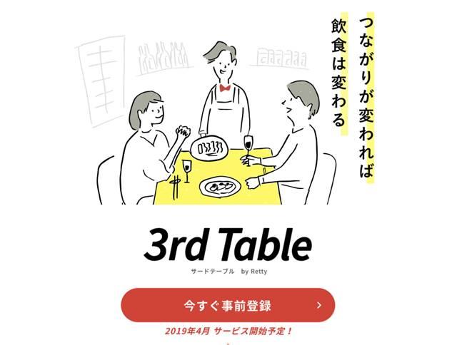 購入型クラウドファンディングサービス「3rdTable」