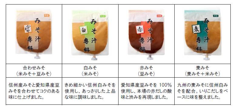 みそ汁専科シリーズ