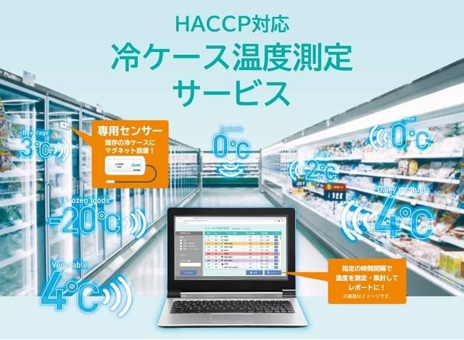 冷蔵ケースの温度をLiCONEXの無線制御により自動で測定、管理   測定作業の人件費を大幅に削減可能!「HACCP対応冷ケース温度測定サービス」を開始